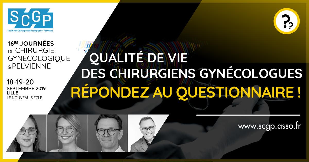 Questionnaire : Qualité de vie du chirurgien gynécologue